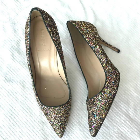 9c505b3b0 J. Crew Shoes   Jcrew Womens Elsie Glitter Pumps Size 11 Heels ...